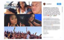 A screengrab of Michelle Rodriguez's Instagram post. Picture: screengrab/CNN