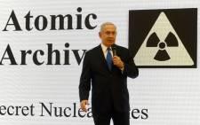 Israeli Prime Minister Benjamin Netanyahu. Picture: AFP