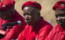 FILE: EFF leader Julius Malema speaks to the media at a press conference in Alexandra, north of Johannesburg, to give feedback on the party's coalition talks. Picture: Christa Eybers/EWN