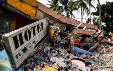 A collapsed hotel in Juchitan de Zaragoza, Oaxaca, Mexico following an 8.2 magnitude earthquake on 8 September, 2017. Picture: AFP