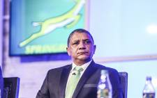 FILE: Allister Coetzee talks to media after being appointed as coach of the Springbok rugby team in Randburg on 12 April 2016. Picture: Reinart Toerien/EWN.