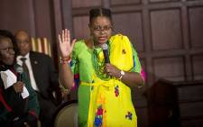 Newly appointed Minister of Energy Mmamoloko Kubayi takes her oath during the swearing in ceremony of President Jacob Zuma's new cabinet in Pretoria on 31 March 2017. Picture: Reinart Toerien/EWN