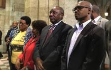 ANC president Cyril Ramaphosa attends a prayer service at St George's Cathedral in Cape Town on 11 February 2018. Picture: @MYANC/Twitter