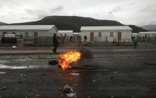 Police monitoring the situation in Zwelihle following a protest by residents. Picture: Picture: Monique Mortlock/EWN.