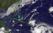 A satellite image of the Tropical Storm Isaac which struck in Haiti on August 22, 2012. The storm came with heavy floods and mudslides, leading to the evacuation of at least 8,000 people. Picture; AFP.