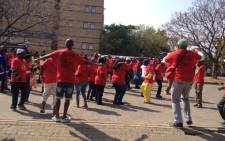 File: Numsa members during a strike in northern Johannesburg on 9 September 2013. Picture: Mbali Sibanyoni/EWN.