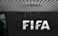 FILE: The logo of the International Federation of Association Football (Fifa) with hanging icicles is pictured at the Fifa headquarters in Zurich, during a meeting of the Fifa's governing council on 10 January 2017. Picture: AFP