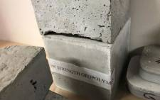 Some of the geopolymer products created from coal ash. Picture: Monique Mortlock/EWN