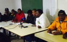 Ses'khona leaders briefed the media on 9 June 2016. Picture: Siyabonga Sesant/EWN.