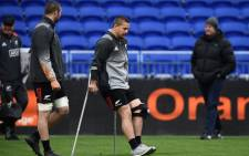 New Zealand's hooker Dane Coles walks on the pitch during a training session on the eve of the friendly rugby union international match between France and New Zealand All Blacks on 13 November 2017. Picture: AFP.