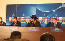 Shakhtar Donetsk coach Paulo Fonseca wore a Zorro mask after beating Man City in their UEFA Champions League match on 6 December 2017. Picture: Twitter/@andyhampson