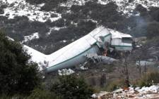 A military plane carrying members of the Algerian armed forces and their relatives crashed into a mountain on Tuesday, killing 77 people on 11 february 2014. Picture: CNN.