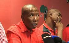FILE: Economic Freedom Fighters leader Julius Malema pictured during a press briefing on 14 February 2017. Picture: Kgothatso Mogale/EWN.