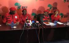 The EFF hold a briefing on 8 March 2018. Picture: Hitekani Magwedze/EWN
