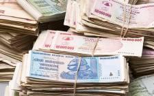 Zimbabwean dollar. Picture: AFP.