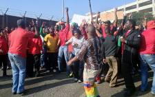 South African Transport and Allied Workers Union (Satawu) during their strike near at OR Tambo International Airport on 26 August 2013. Picture: Govan Whittles/EWN