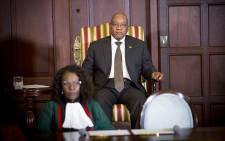 President Jacob Zuma sits on a chair ahead of the swearing in ceremony of his new cabinet on 31 March 2017 in Pretoria. Picture: Reinart Toerien/EWN