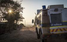 A police Nyala patrols streets in Vuwani ahead of the 3 August elections. Picture: Thomas Holder/EWN.