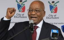 FILE: President Jacob Zuma speaks at a public event. Picture: Louise McAuliffe/EWN