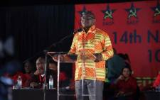 Gauteng Premier David Makhura addressing delegates at the 4th South African Communist Party Congress on 11 July 2017 in Boksburg. Picture: Twitter/@SACP1921.