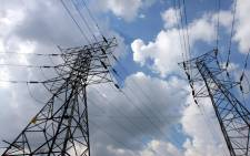 Electricity pylons in Johannesburg. Picture: EPA