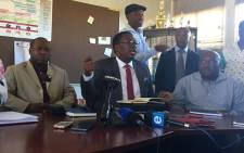 Gauteng Education MEC Panyaza Lesufi at the school in Mamelodi where a 17-year-old girl was allegedly raped by a security guard. Picture: Thando Kubheka/EWN