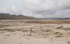 The Theewaterskloof dam, a dry landscape as the Western Cape is gripped by a water crisis. Picture: Bertram Malgas/EWN.