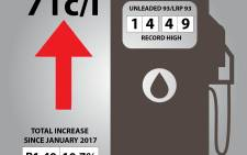 Petrol price increase by 71c.  Picture: EWN
