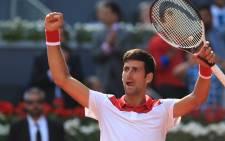 FILE: Novak Djokovic. Picture: @MutuaMadridOpen/Twitter