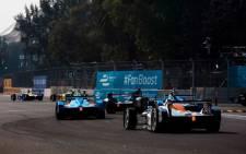 A Formula E race. Picture: @FIAformulaE/Twitter