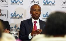 City of Johannesburg Mayor Parks Tau attended a briefing on the state of Johannesburg's water situation on 12 November 2015. Picture: Reinart Toerien/EWN