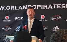 New Orlando Pirates coach Kjell Jonevret. Picture: @Lenn_Moleko.