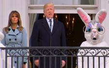 President Trump gives remarks at the annual White House Easter Egg Roll. Picture: CNN