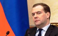 FILE: Russian Prime Minister Dmitry Medvedev. Picture:AFP.