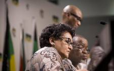 ANC Deputy Secretary-General Jessie Duarte listens during a briefing at Luthuli house on 5 April 2017 in Johannesburg following the ANC NWC meeting after President Jacob Zuma's cabinet reshuffle. Picture: Reinart Toerien/EWN