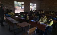 FILE: A principal of a school in Vuwani addressing matric students. Picture: EWN.