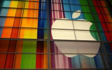 FILE: The Apple logo at the Yerba Buena Center for Arts in San Francisco. Picture: AFP.