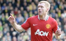 Manchester United midfielder Paul Scholes. Picture: AFP