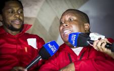 EFF leader Julius Malema addresses the media on proceedings at Sona 2016 outside of the National Assembly. Picture: Thomas Holder/EWN