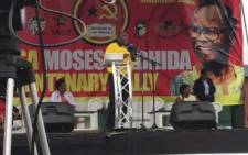 Deputy President Cyril Ramaphosa addressing the Young Communist League's Centenary Celebration at Curries Fountain in Durban. Picture: Ziyanda Ngcobo/EWN.