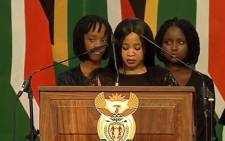 A screengrab showing some of Zola Skweyiya's grandchildren paying tribute to the late struggle stalwart during his memorial service in Pretoria. Picture: YouTube.