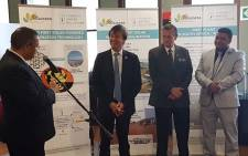 The Western Cape government and France have on Monday launched the first solar-powered desalination plant in the Hessequa Municipality. Picture: @FrenchEmbassyZA/Twitter