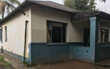A house which was allegedly used as prostitution and drug den stormed and damaged by community. Picture: Kgothatso Mogale/EWN.
