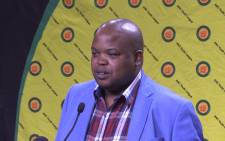 ANCYL president Collen Maine at media brief on Tuesday 13 June at Luthuli House. Picture: Kgothatso Mogale/EWN