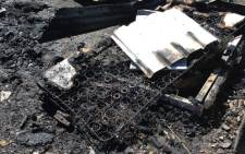 FILE: Remains of a mattress following a shack fire. Picture: EWN.
