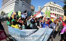 Several people took to the streets in Durban as part of the March for Science on Saturday 22 April 2017. Picture: Abhi Indrarajan.