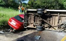 Three people have tragically lost their lives and two people were injured following an accident on the N4 towards Pretoria after the Solomon Mahlangu offramp in Pretoria on 13 January 2015. Picture: Santi Steinmann/iWitness