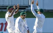 The Proteas celebrate a wicket on  16 January 2018, day 4 of the second Test series against India at Centurion. Picture:Twitter/@OfficialCSA