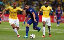 Barcelona's Luis Suarez in action against during their team's Nelson Mandela Centenary Celebrations match against Mamelodi Sundowns. Picture: Facebook.com.