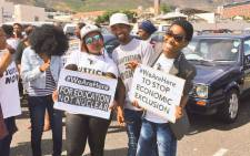 Members of civil society groups who are marching in the  Cape Town CBD against state capture on 1 November. Picture: Twitter: @sjcoalition